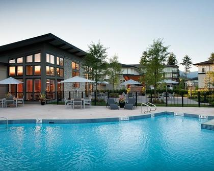 swimming pool at #1209 - 3093 Windsor Gate, New Horizons, Coquitlam