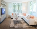 living room at #1209 - 3093 Windsor Gate, New Horizons, Coquitlam