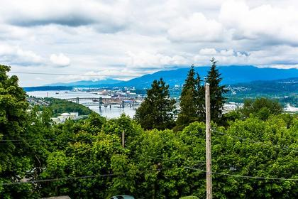 view - N Shore Mountains Inlet at 350 N Hythe Avenue, Capitol Hill BN, Burnaby North