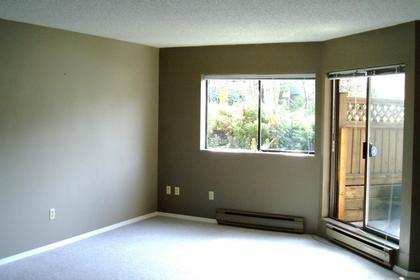 Living Room with Sliders to Patio at #G10 - 1690 Augusta Avenue, Simon Fraser Univer., Burnaby North
