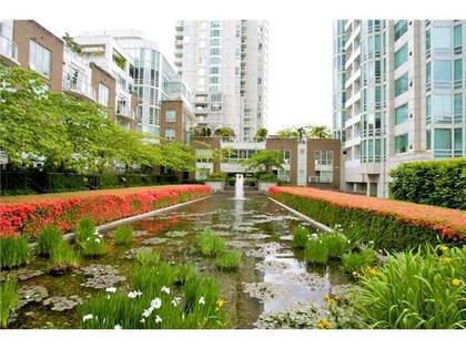 Courtyard Pond at #1106 - 1500 Hornby Street, Yaletown, Vancouver West