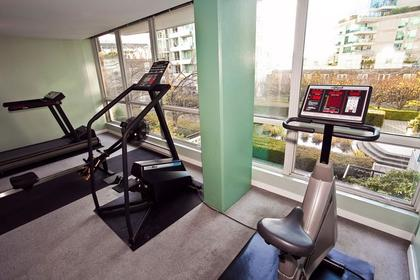 Gym with Courtyard View at #1106 - 1500 Hornby Street, Yaletown, Vancouver West