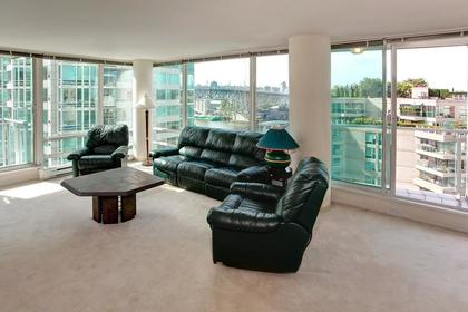 Living Room at #1106 - 1500 Hornby Street, Yaletown, Vancouver West