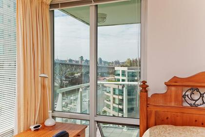 View from 2nd Bdrm at #1106 - 1500 Hornby Street, Yaletown, Vancouver West