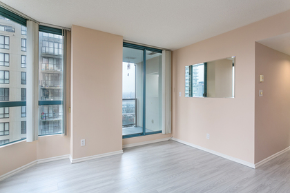 living-rm-balcony at #1003 - 838 Agnes Street, Downtown NW, New Westminster