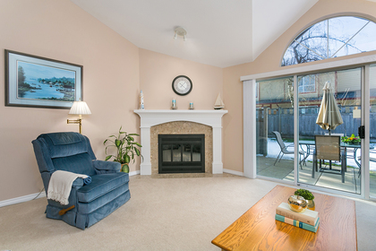 living-rm-fireplace at 1605 Augusta Avenue, Simon Fraser Univer., Burnaby North