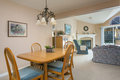 open-dining-living-rm at 1605 Augusta Avenue, Simon Fraser Univer., Burnaby North