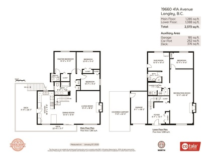 floor-plan at 19660 41a Avenue, Brookswood Langley, Langley
