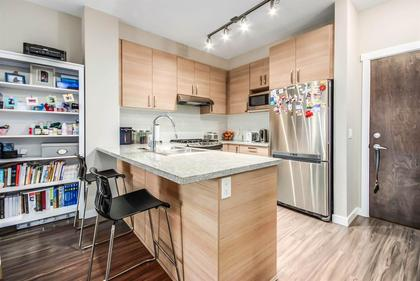 Kitchen-breakfast-bar at #407 - 1150 Kensal Place, New Horizons, Coquitlam