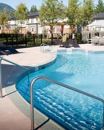 Nokoma-Club-outdoor-pool at #407 - 1150 Kensal Place, New Horizons, Coquitlam