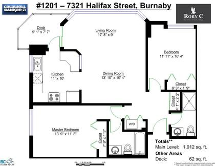 FloorPlan at #1201 - 7321 Halifax Street, Simon Fraser Univer., Burnaby North