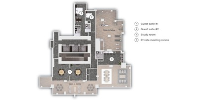 amenity-guest-suites-private-meeting-rm at #3803 - 518 Clarke Road, Coquitlam West, Coquitlam
