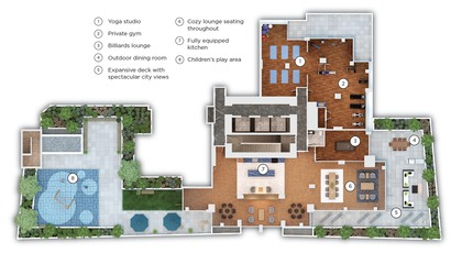 amenity-layout at #3803 - 518 Clarke Road, Coquitlam West, Coquitlam