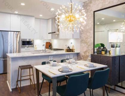 dining-rm-kitchen at #3803 - 518 Clarke Road, Coquitlam West, Coquitlam