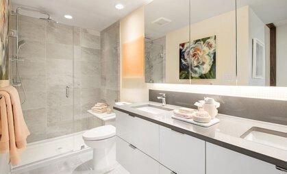 bathroom at #808 - 3699 Sexsmith Road, Garden City, Richmond
