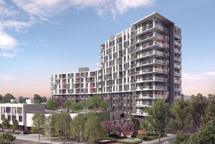 building-exterior at #808 - 3699 Sexsmith Road, Garden City, Richmond