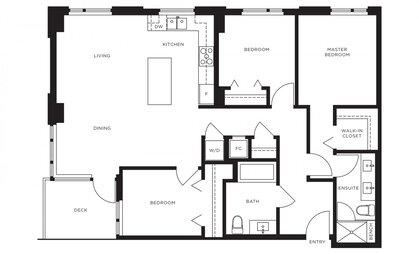 floor-plan at #808 - 3699 Sexsmith Road, Garden City, Richmond