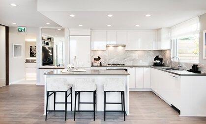kitchen-counter at #808 - 3699 Sexsmith Road, Garden City, Richmond
