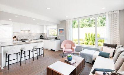 open-plan-kitchen at #808 - 3699 Sexsmith Road, Garden City, Richmond