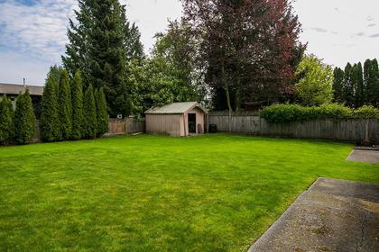 backyard at 4952 208a Street, Langley City, Langley