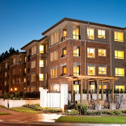building-exterior-night at #305 - 3105 Lincoln Avenue, New Horizons, Coquitlam