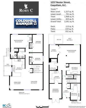 floor-plan at 1257 Nestor Street,
