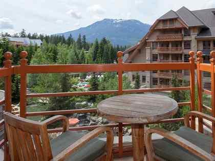balcony at #745 - 4591 Blackcomb Way, Benchlands, Whistler