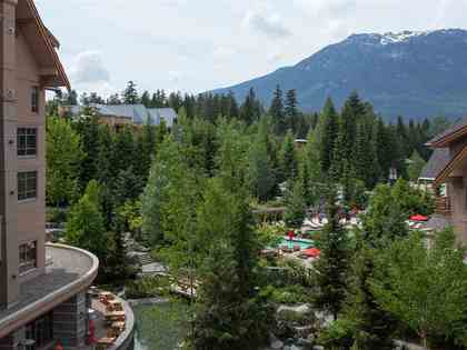view-mountain--pool at #745 - 4591 Blackcomb Way, Benchlands, Whistler
