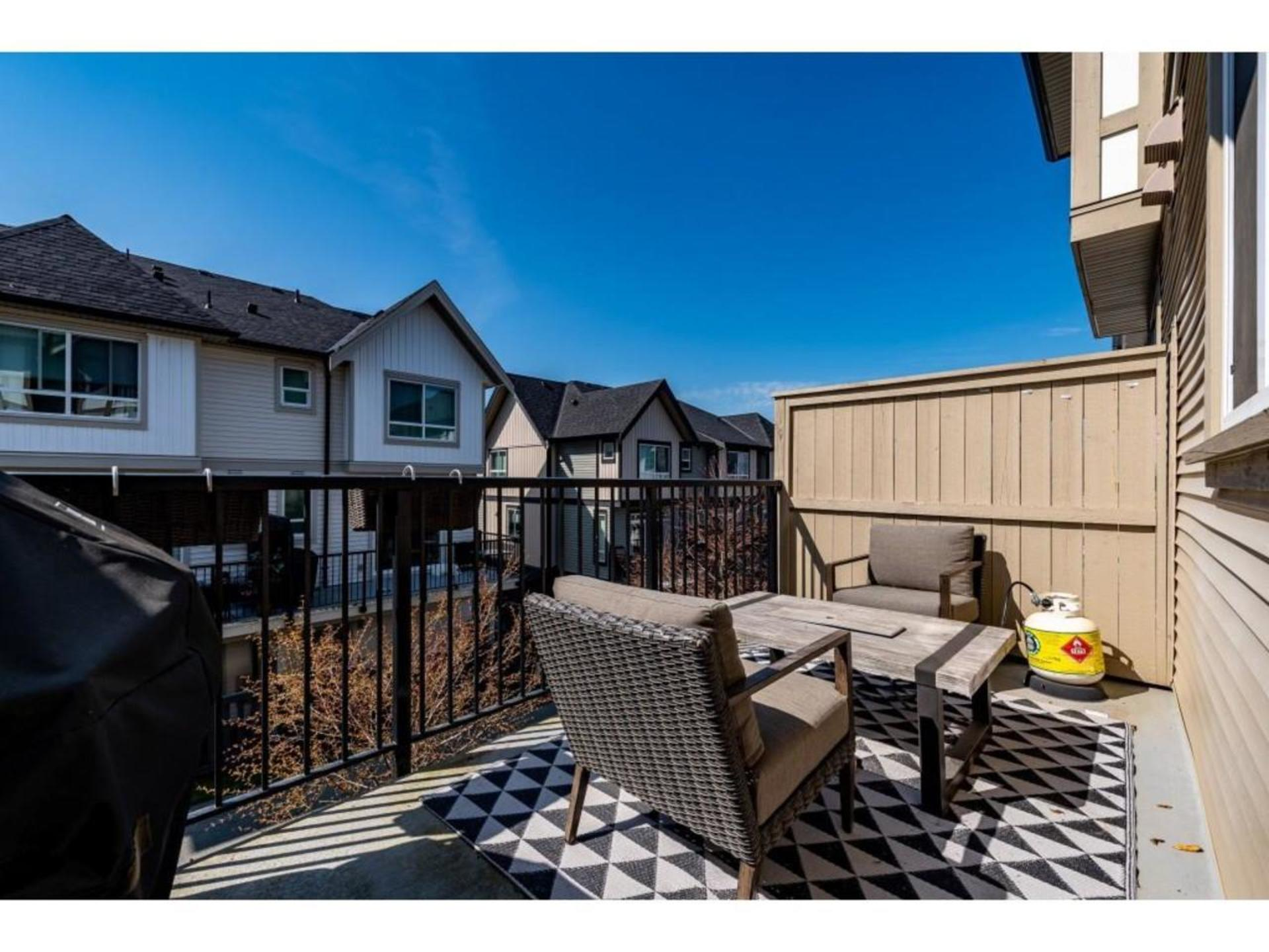 West facing balcony w/access right off the kitchen. Great spot to bbq or relax outside. at 94 - 30989 Westridge Place, Abbotsford West, Abbotsford