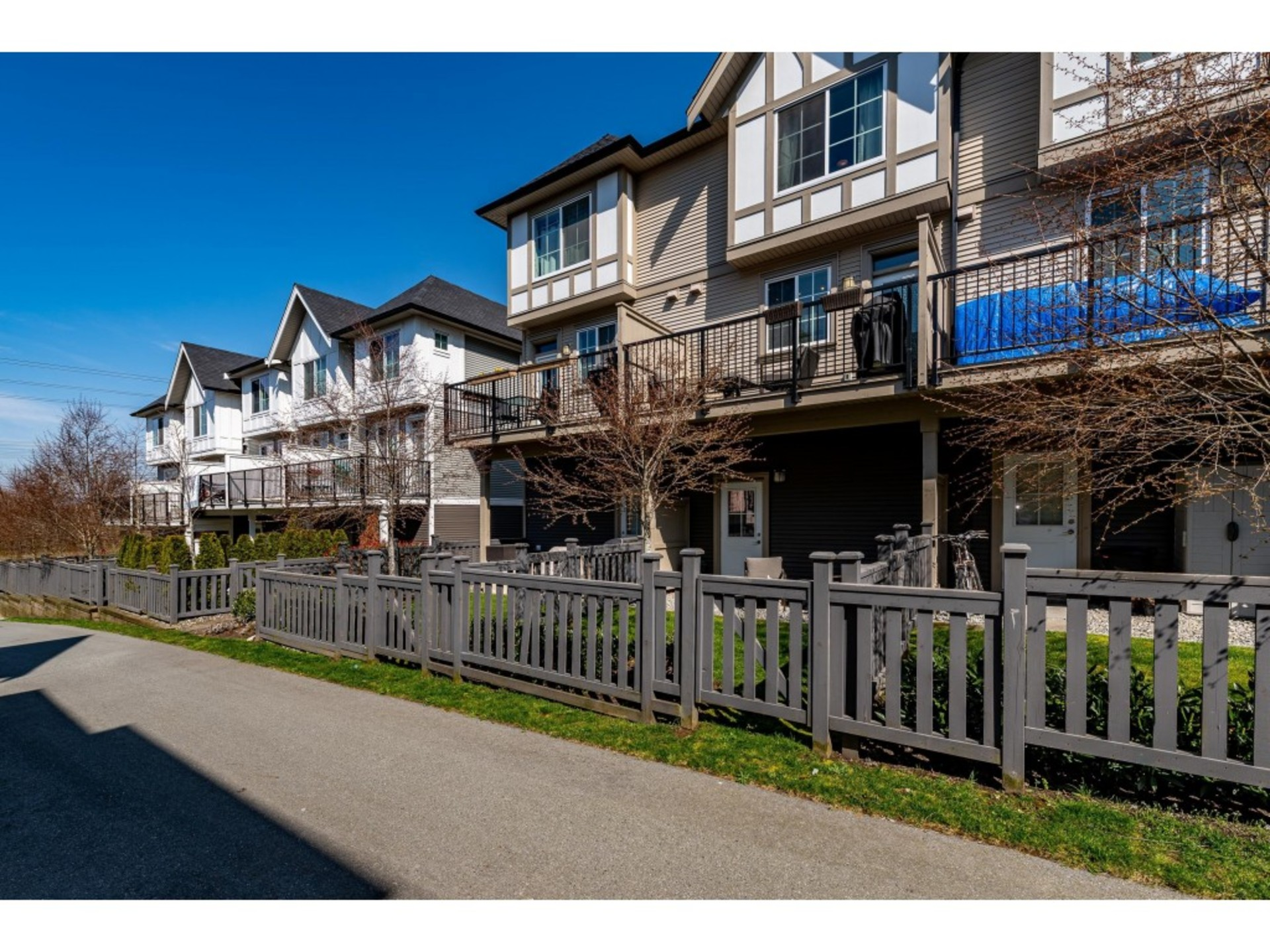 Looking form the pathway to your private fenced and gated yard and patio area. at 94 - 30989 Westridge Place, Abbotsford West, Abbotsford