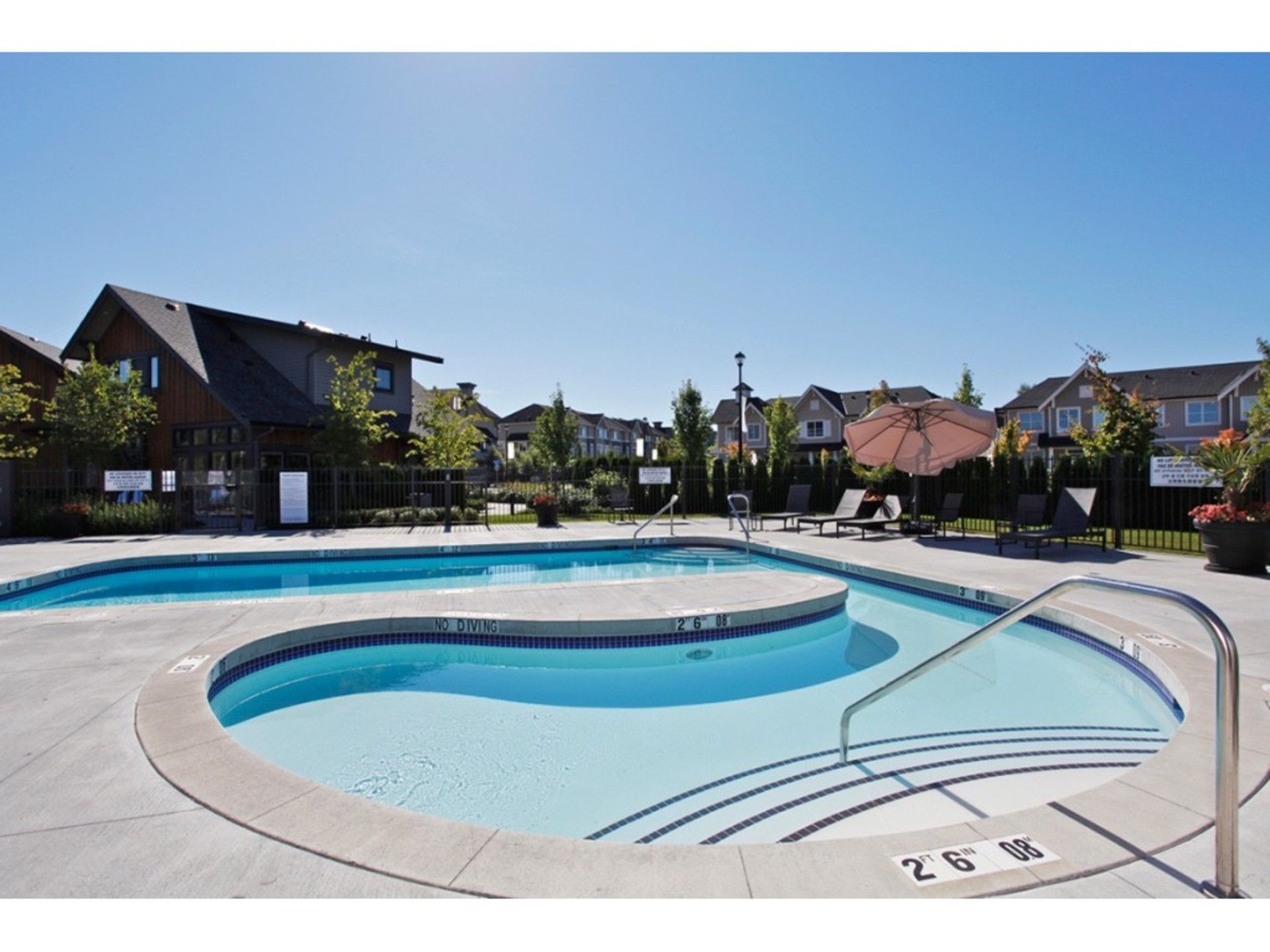 Outdoor Pool at the Clubhouse at 94 - 30989 Westridge Place, Abbotsford West, Abbotsford