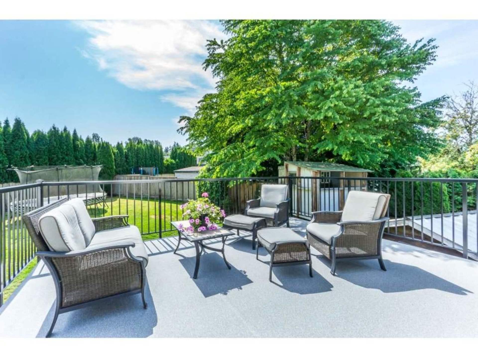 Beautiful Deck overlooking Private Backyard at 21662 50a Avenue, Murrayville, Langley