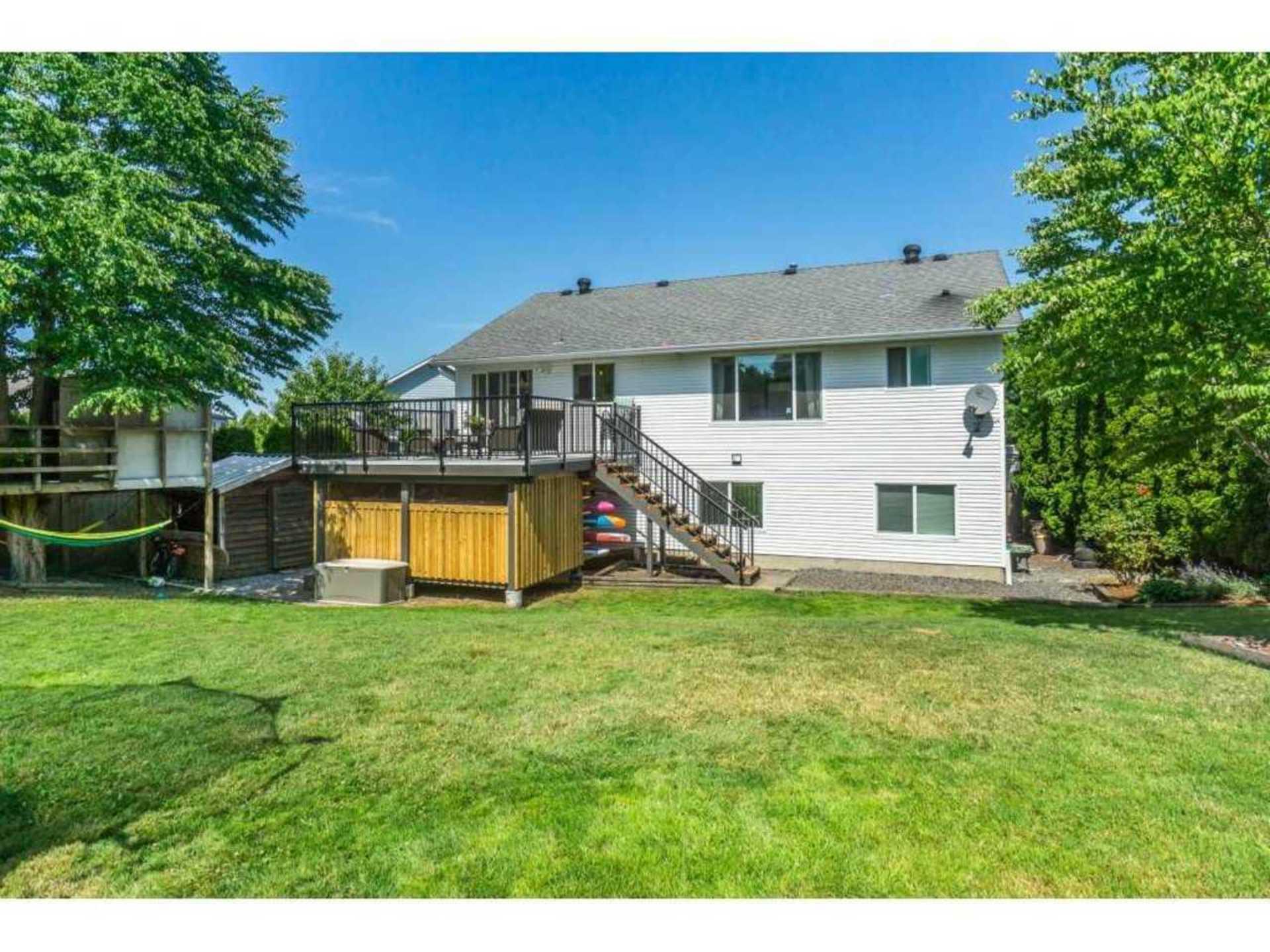 Backyard at 21662 50a Avenue, Murrayville, Langley