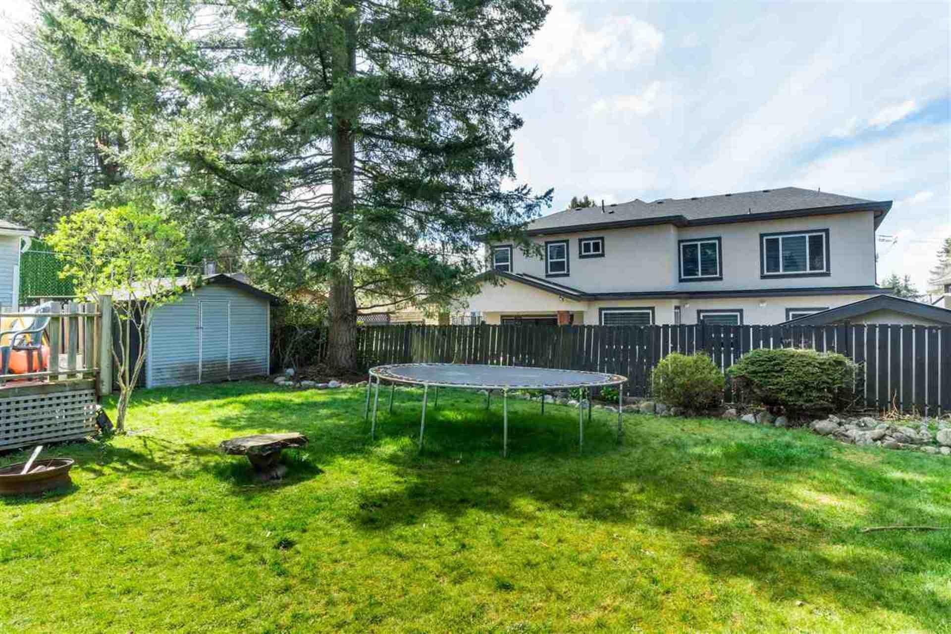 Backyard at 9941 121a Street, Cedar Hills, North Surrey