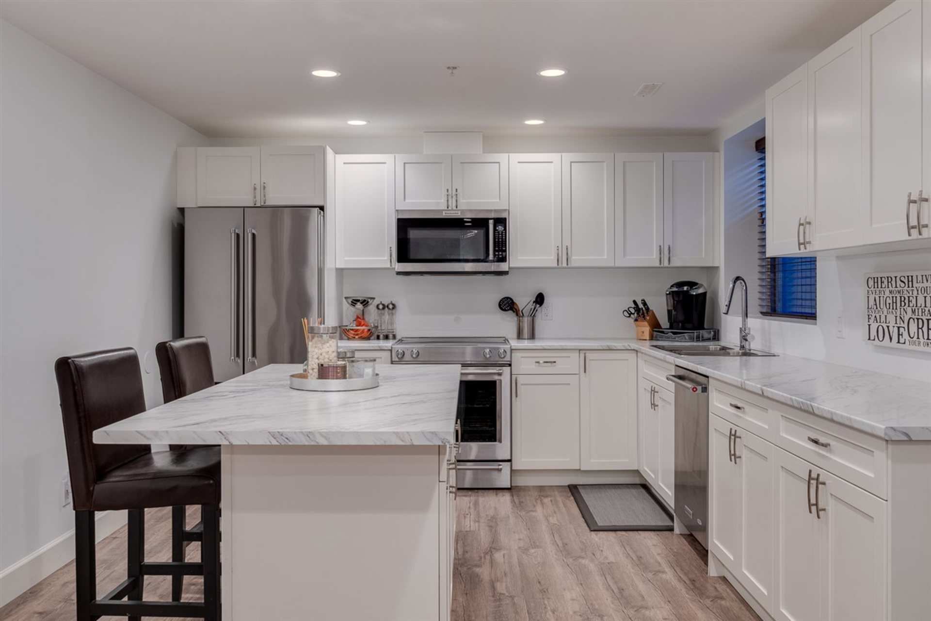 basement-suite-kitchen at 24604 Kimola Drive, Albion, Maple Ridge