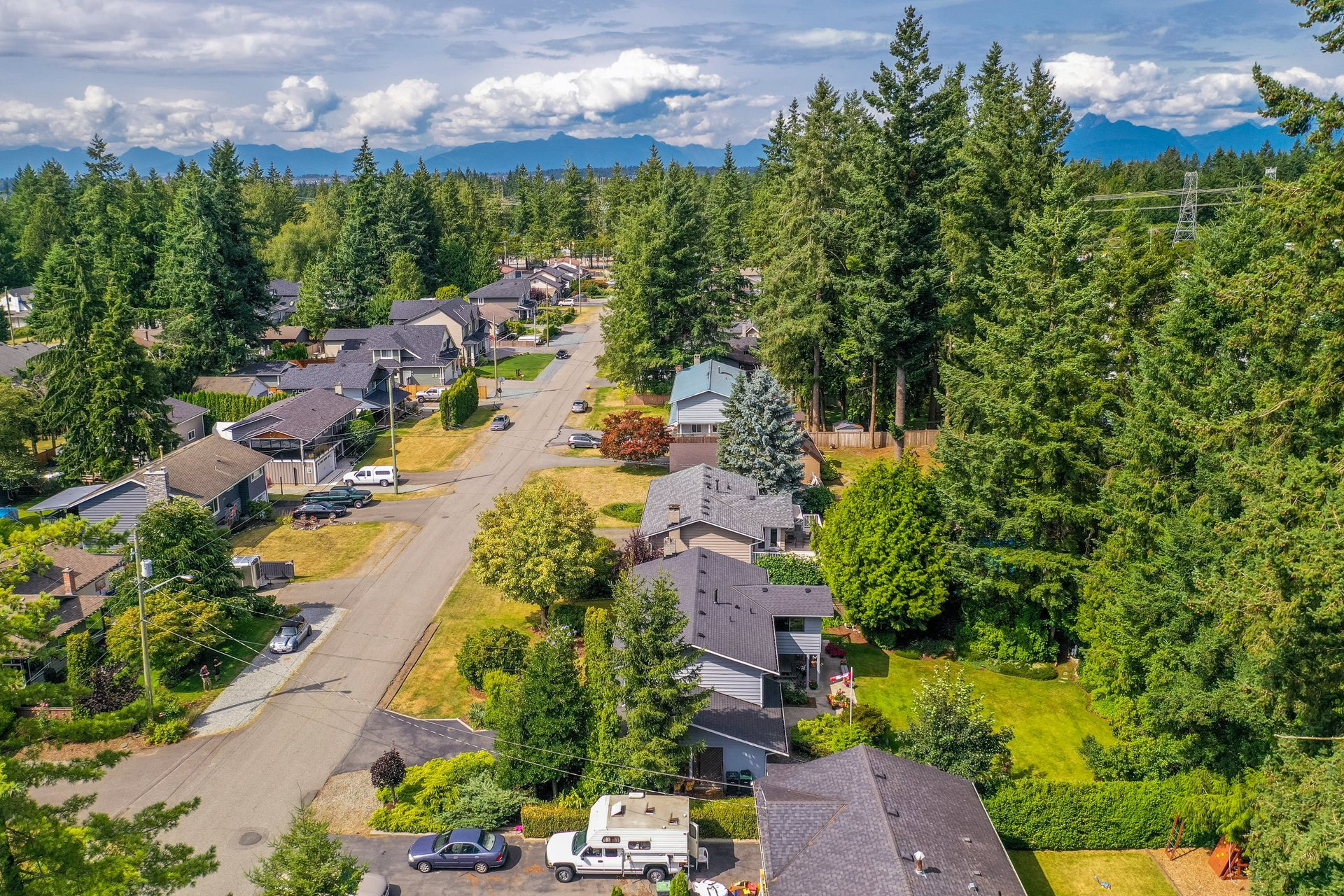 Aerial Street View at 4062 207a Street, Brookswood Langley, Langley