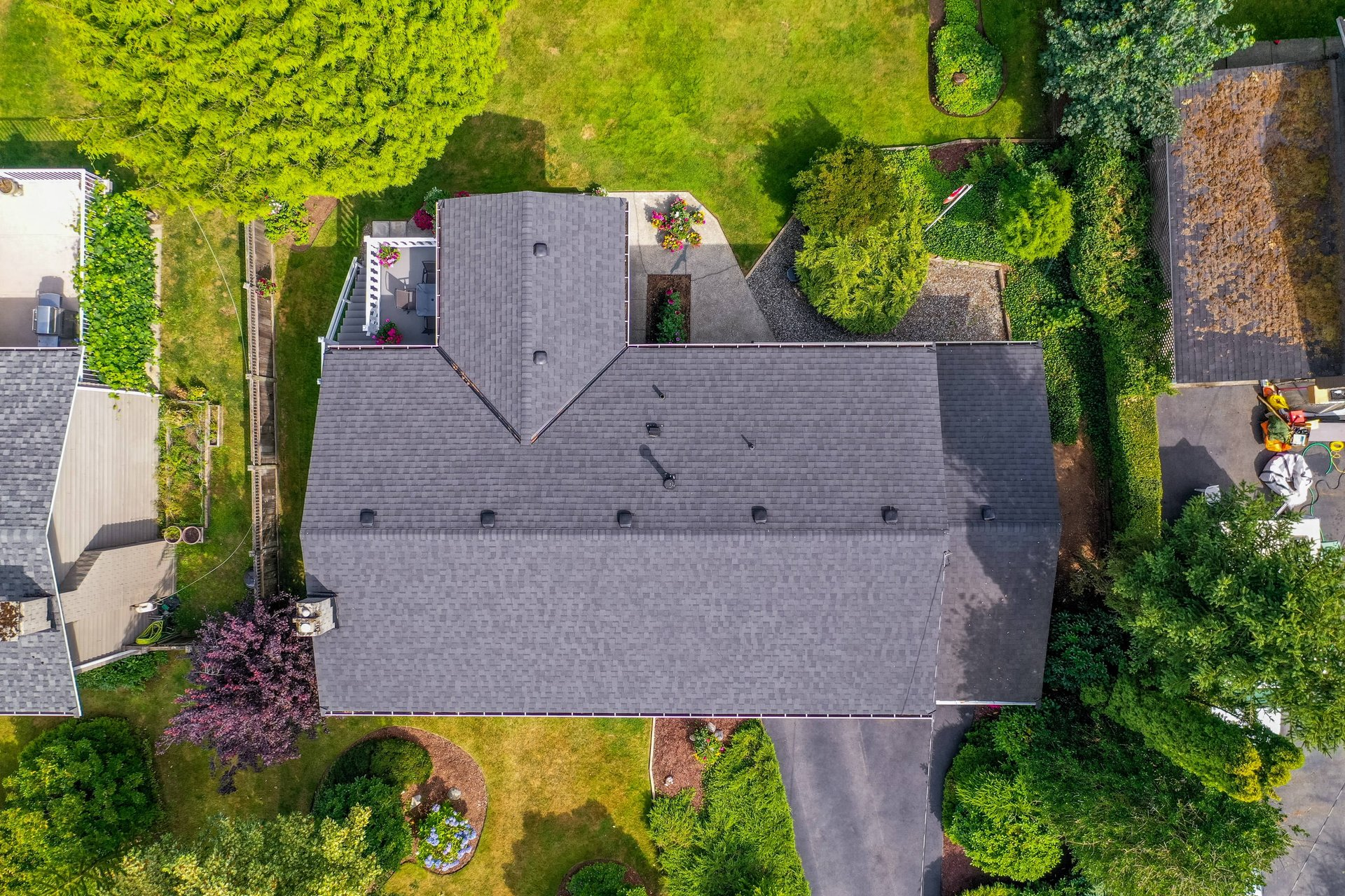 Aerial View at 4062 207a Street, Brookswood Langley, Langley