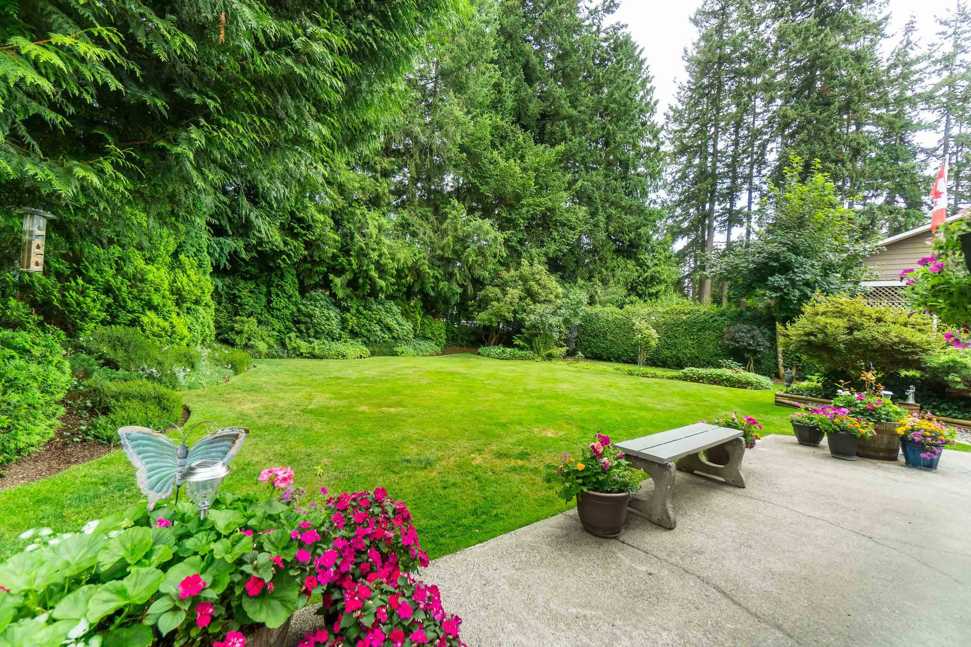 Backyard and Patio at 4062 207a Street, Brookswood Langley, Langley