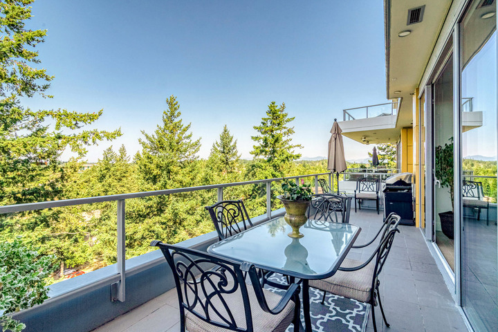 Patio with View at 1104 - 1501 Vidal Street, White Rock, South Surrey White Rock