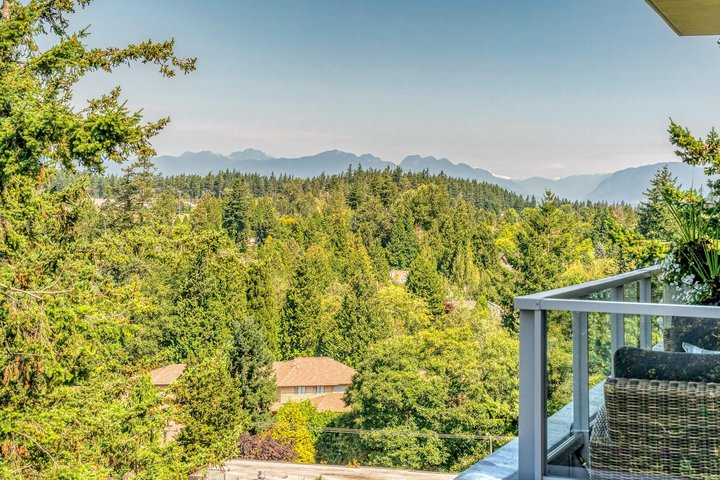 Patio with Mountain View at 1104 - 1501 Vidal Street, White Rock, South Surrey White Rock