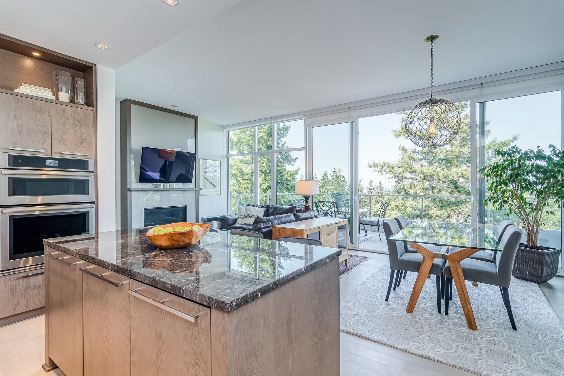 Kitchen and Living Room at 1104 - 1501 Vidal Street, White Rock, South Surrey White Rock