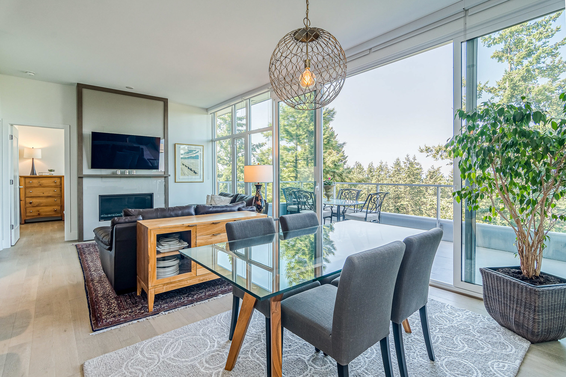 Dining Room and Living Room at 1104 - 1501 Vidal Street, White Rock, South Surrey White Rock