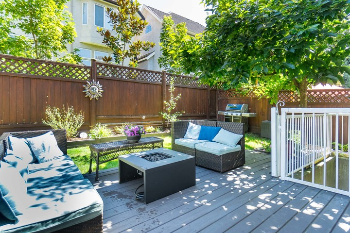 Backyard Patio at 3452 152b Street, Morgan Creek, South Surrey White Rock