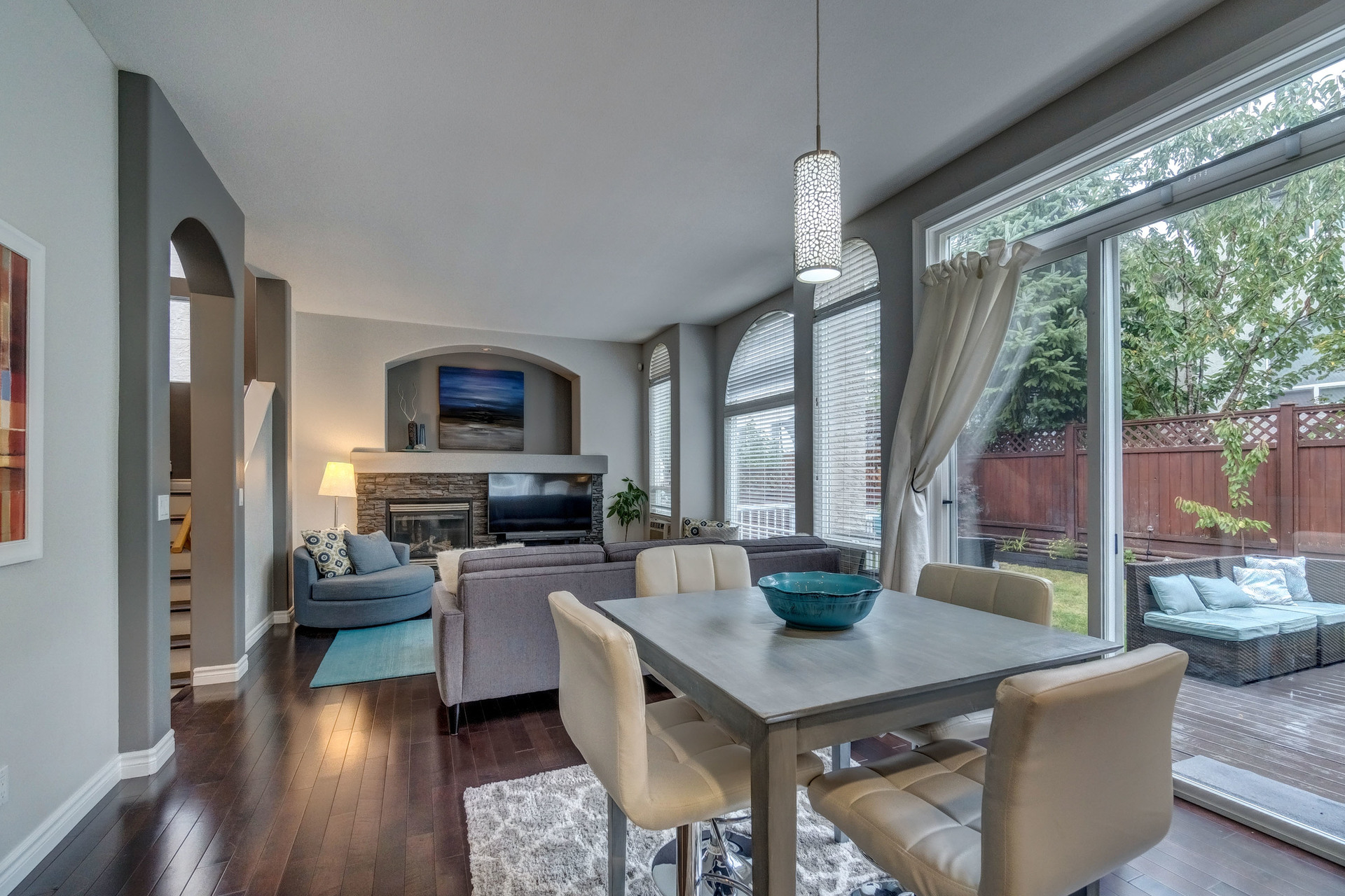 Eating Area & Family Room at 3452 152b Street, Morgan Creek, South Surrey White Rock