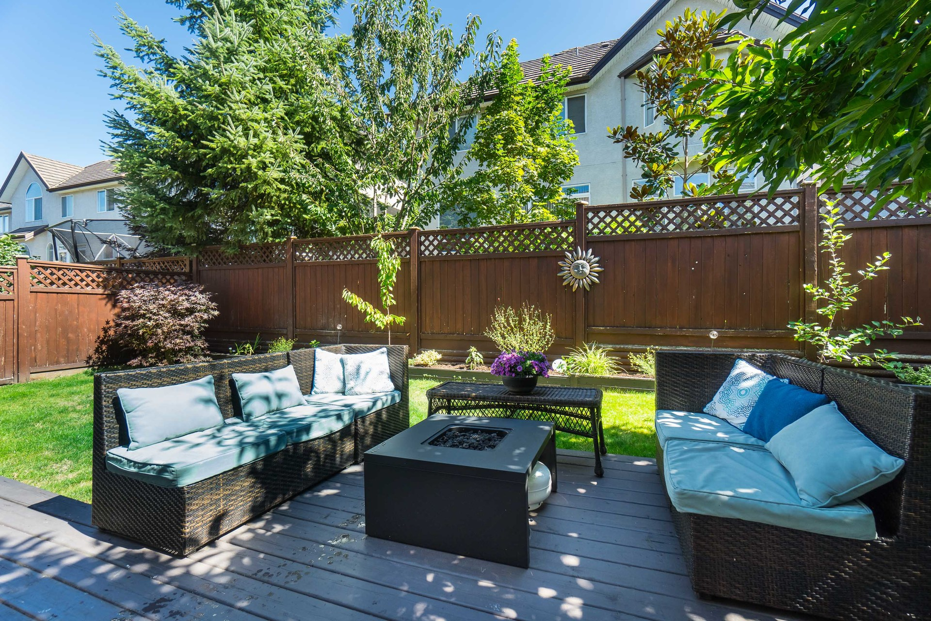 Backyard & Patio at 3452 152b Street, Morgan Creek, South Surrey White Rock