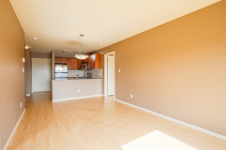 Living Room & Kitchen at 610 - 415 E Columbia Street, Sapperton, New Westminster