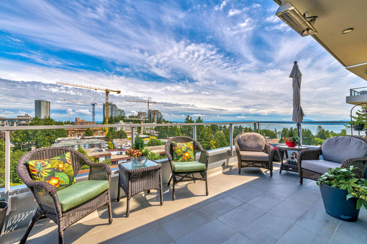 Balcony at 908 - 1501 Vidal Street, White Rock, South Surrey White Rock