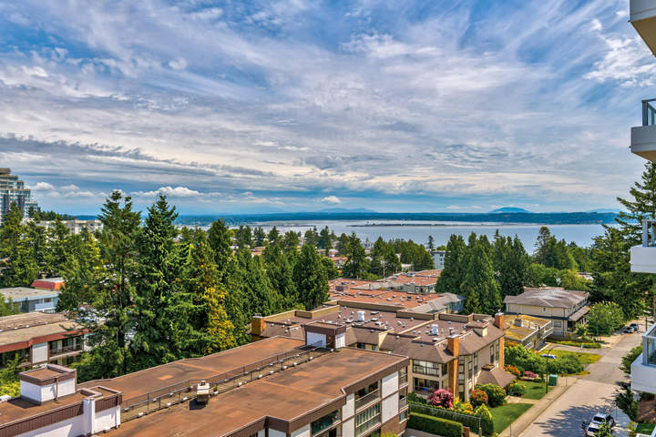 View from Balcony  at 908 - 1501 Vidal Street, White Rock, South Surrey White Rock