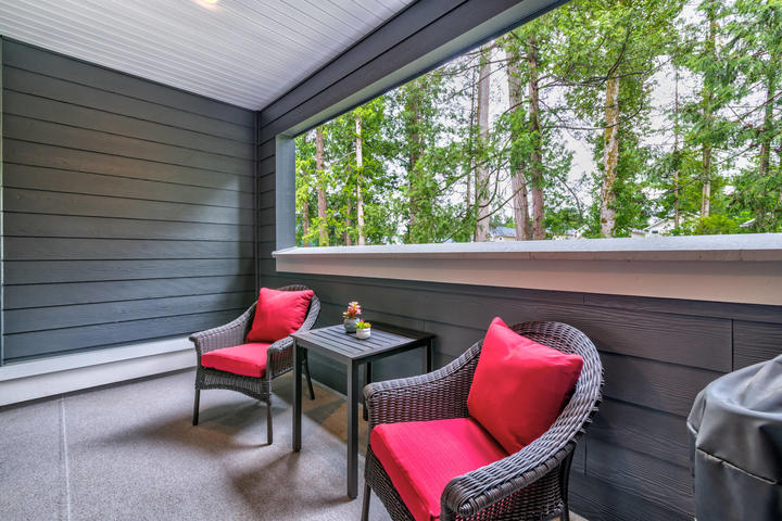 Covered Balcony at 22 - 127 172 Street, Pacific Douglas, South Surrey White Rock