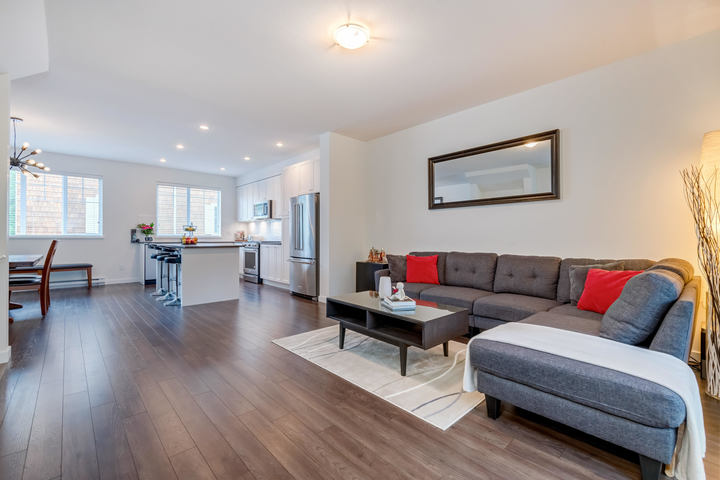 Living Room & Kitchen at 22 - 127 172 Street, Pacific Douglas, South Surrey White Rock